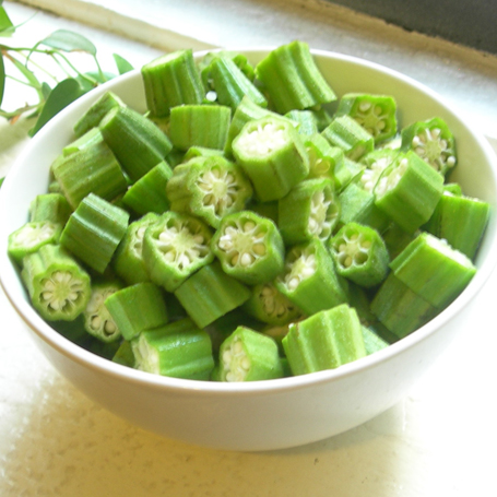 Okra Sliced Rings